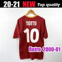 2000 2001 2002 ريترو روما لكرة القدم جيرسي 00 01 02 Totti Batistuta Nakata Candela Montella Classic Commemental Collection Rome Maglia Da Calci