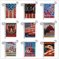 América del Nacional bandera de la libertad Agricultura Dos cara Impresión de Eagle Banner Estrellas Celebre costura de tela vertical Jardín Banderas del rectángulo 6jy C2