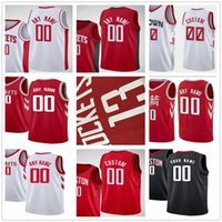 Custom Printed Jerseys New Top Quality Man White Black Red J...