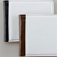 Sıcak Transferi Blank Pu Erkekler Cüzdan Ters Sublime Blank Cüzdan İki Yüzü Stil Metal Bankası 5nw B2 cüzdan 18 Clip katlayın