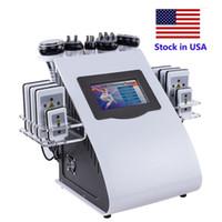 Lager in den USA Gewichtsverlust Abnehmen Lipolaser Kavitation 6 in 1 RF Vakuum 40k Kavitation Körper Sculpting Machine Abnehmen Maschine