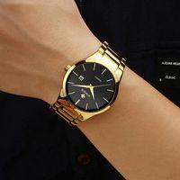 Armbanduhren relojes hombre 2021 whoor gold uhr männer luxus mens quarz armbanduhr business edelstahl wasserdicht auto date uhr