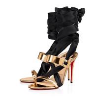 Luxuoso Verão Foulard clássico eveningwear sandal.gold rosa projeto 100 mm estilete saltos veau velours parte inferior vermelha Sapata de vestido do tapete vermelho