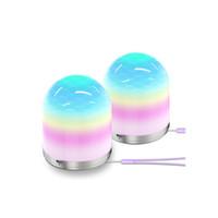 USB LED Gece Işık Renkli Gece Işıkları LED'ler RGB Renk Değişimi Masa Lambası Ev Dekor Başucu Masaları Için Aydınlatma Crestech168