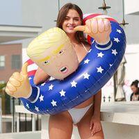 Trump avec les mains natation Anneaux Amérique gonflable Drapeau Bouée Flotteurs Buoy adultes Piscine enfants à l'intérieur 40 cm à l'extérieur 100 cm 25qs C2