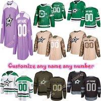 Personnalisé 2020 Actualités Dallas Stars Hockey Jerseys Plusieurs Styles Mens Personnalisez n'importe quel nom Numéro Jerseys de hockey