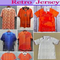 1988 89 91 95 96 futebol Jersey retro Holanda, Marco Van Basten Gullit 97 98 Voetbal shirt Seedorf Bergkamp Holland Kluivert Robben 2012