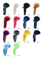 14 Style Unisex Velvet Durags Bandana Turban Cappello Pirata Caps Parrucche DOO Durag Biker Copricapo Abbigliamento Fascia Pirata Cappello Accessori per capelli DA652