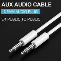 3.5 câble audio Aux 3,5 mm mâle à mâle voiture auxiliaire voiture stéréo audio audio techate métal pour téléphones haut-parleur de voiture