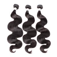 Greatremy Perulu Saç 3 Paketler Bakire İnsan Saç Örgü Dalgalı Vücut Dalga Saç Atkı Uzatma Doğal Renk Ücretsiz Kargo