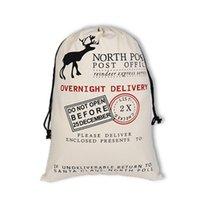 Рождество Холст Drawstring мешок Xmas Санта Клаус Подарки кулиской Ткань сумка Рождество Северный полюс Экспресс Холст Сумки IIA418