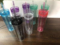 In Stock!!16OZ Skinny Tumbler Acrylic Tumblers Double Wall C...