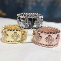 S925 стерлингового серебра Ladies' кольца Цветок трава Широкая Личность моды Высокое качество Высокая технология Роскошное Свободная перевозка груза партии