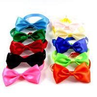 Pet Köpek Bow Tie Tek Çiçek ilmek Ayarlanabilir Yaka Bağları Evcil Aksesuarlar Renk Kemer Plastik Toka All Seasons 1 22xd B2