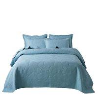 La casa in cotone ricamo blu copriletto copriletti letto Set ricamo quiltcover Coperte lenzuolo BeddingSets king size di lusso mattres Tiper