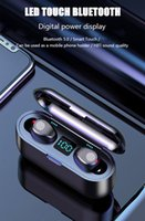 F9 TWS Bluetooth 5.0 fones de ouvido sem fio fone de ouvido toque controle fones de ouvido estéreo fone de ouvido esporte headset diodo emissor de diodo emissor de luz de exibição auricule