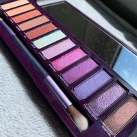 New purple 12 colors eye shadow palette Shimmer Matte eye sh...