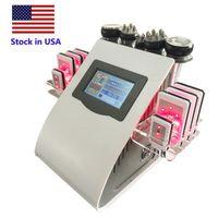 Stock de EE.UU. 6 en 1 40K cavitación vacío pérdida de grasa de elevación Sextupolo multipolar RF que adelgaza la máquina apretar la piel del cuerpo que forma la máquina