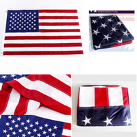 90 * 150cm Gestickte USA-Flaggen-Fahne im Freien Stars And Stripes Messingösen Banner 3 * 5 Feet amerikanische Dekor Flags FFA4259