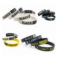 Black Lives Matter Wristband I Can' t Breathe Silicone B...