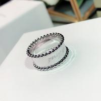 S925 Silver Ladies' кольца Цветок трава Широкая Личность моды высшего качества свободная перевозка груза шарика края знака Золотое кольцо