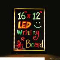 LED Message Board écriture Illuminated effaçable Neon Effet restaurant signe Menu avec 8 couleurs Marqueurs, 7 couleurs clignotant bricolage