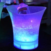 5L مقاوم للماء قابلة للشحن LED مضيئة دلاء الثلج الشمبانيا النبيذ المشروبات البيرة الجليد تبريد لمطعم حانات الملاهي الليلية KTV ديسكو
