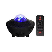 LED nuit lumière colorée Starry Sky Projector Light Bluetooth USB Contrôle vocal Lecteur de musique Haut-parleur lampe de projection Galaxy Star Anniversaire