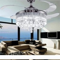 Светодиодные потолочные вентиляторы свет AC 110V 220V Невидимые Лезвия Потолочные вентиляторы Современные Вентилятор лампы Гостиная Спальня Люстры Потолочный светильник Подвеска лампа