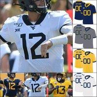 NCAA Batı Virginia Mountainers WVU Futbol Dikişli Jersey Trevon Wesco David Siltleri V Gary Jennings Grier Mistell Petthaway Evan Bayat