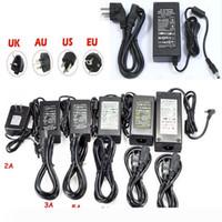 LED commutazione di alimentazione 110-240V AC DC 12V 2A 3A 4A 5A 6A 7A 8A 10A striscia principale 5050 adattatore 3528 trasformatore