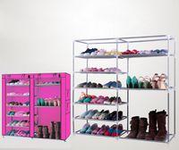 ジッパーの肥厚の経済的な単純な容量スーパー大きい多層の布の防塵の靴を持つワードローブの収納靴のキャビネットの家