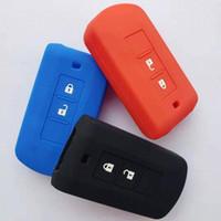 Silicone 2 botão remoto Key Fob capa protetora para Mitsubishi Lancer EX ASX Outlander Pajero Esporte L200 ASX Fob remoto Caso 5IAP #
