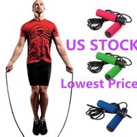 US STOCK, Bunte Aerobic Boxen Skipping Seilspringen Einstellbare Bearing Geschwindigkeit Fitness Schwarz Unisex Frauen Männer Jumprope