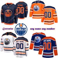 Custom Hombres para niños Edmonton Oilers Jerseys 97 Connor McDavid 74 Ethan Bear 44 Kassian Personaliza cualquier número Cualquier nombre Hockey Jersey