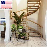 Creatieve driewieler kar houder tuin decor bloem pot stand mode indoor plant ijzer frame Amerikaanse voorraad