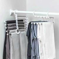 5 in 1 Multifunktionshose Lagergestell Einstellbare Hosen Krawatte Lagerregal Closet Organizer Edelstahl Kleiderbügel