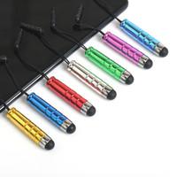Mini Stylus Dotykowy Pióro z wtyczką antypustową do krawędzi S7 S6 S6 Edge Iphone SE 6 6 Plus Pojemność 11 Kolory Tablet PC Stylu pojemnościowy