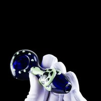 Atacado vidro cachimbo Glow in the Dark Oil Burner Aproximadamente 3,8 polegadas Pipes Mão Luminous tartaruga bonito Vidro Heady da tubulação de água