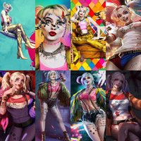 Esquadrão Suicida Harley Quinn cinema Pôsteres Joker Mulheres pintura da lona Cuadros Wall Art for Living Room Home Decor (No Frame)