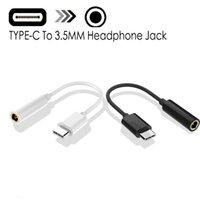 타입 C로 3.5mm의 이어폰 케이블 어댑터의 USB 3.1 타입 C USB-C 남성으로 샤오 미 6 MI6 Letv 2 프로 2 MAX2 3.5 AUX 오디오 여성 잭
