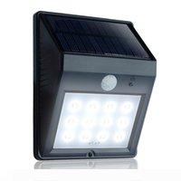 12 LED في الهواء الطلق لاسلكية تعمل بالطاقة الشمسية للطاقة الحركة الأمن أضواء السيارات ليلة بدوره قبالة اللاسلكية LED للطاقة الشمسية حديقة مصباح ث آخر الاستشعار