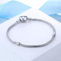 Shippifactory gratuit en gros 925 Sterling Argent Bracelets 3mm Snake Chain Fit Pandora Charm Berf bracelet Bracelet Bijoux Cadeau pour hommes Femmes