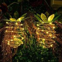 Solar-Kupferdraht-Lampe Ananas-Form-Solarleuchte Kreative Kupferdraht Spirale Lampe Solarlicht Im Freien beweglichen Nachtlicht Garten