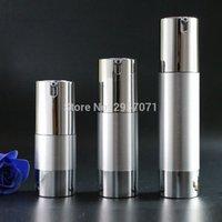 Yedek Parfüm Şişesi Ret h8uO # için Altın Gümüş Boş Havasız Pompa Şişeler Mini Taşınabilir Vakum Kozmetik Losyon Tedavi Seyahat Şişe