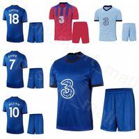 2020 2021 11 Hombres camiseta de fútbol Timo Werner conjunto Jersey 9 Tammy Abraham 19 Mason Monte Hakim Ziyech Frank Lampard Fútbol Kits de Q-E-X