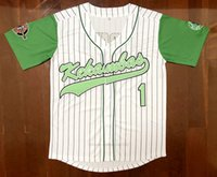 Schiff von US Movie Hardball # 1 Jarius G-Baby Evans Baseball Trikots White Dewayne Warren genäht Kekambas Film Top Qualität