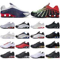 Nueva R4 zapatos corrientes del hombre corredores de triple neón negro oro EE.UU. Juego Real cometa rojo hombres Bred los deportes al aire libre de las zapatillas de deporte para correr a pie