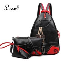 2020 NEW Vintage Fashion Leaf Sewing Shoulder Backpack three...