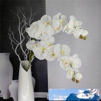 Искусственные бабочки орхидея Branch цветок украшение Real сенсорных Цветы Simualtion Растение Свадьба Home Office Party Decor